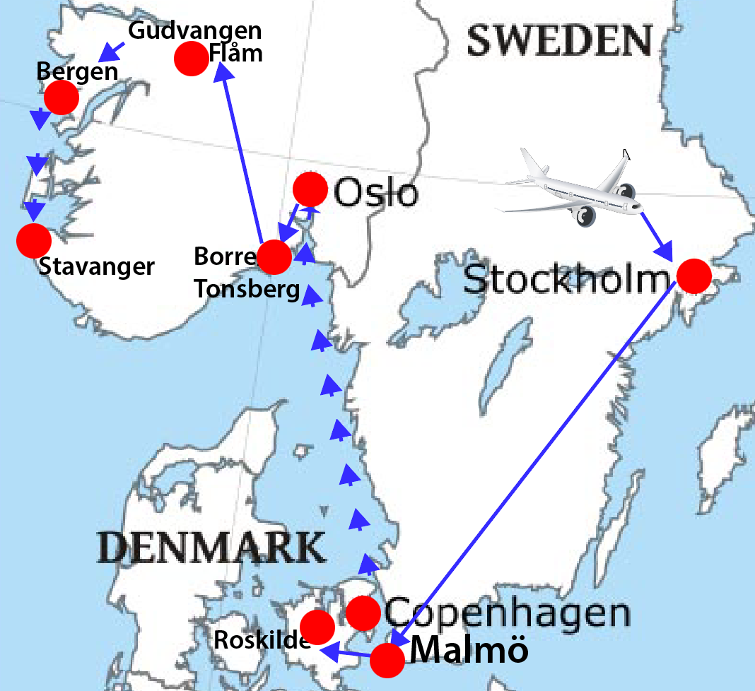 Viking Trip Route